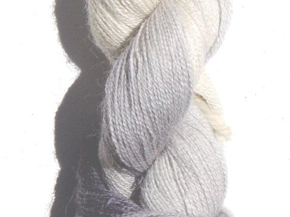 Alpaca lace yarn hand-painted in Mayacamas Midnight colorway