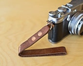Jupiter-9 Leather Wrist Strap for Fujifilm X100 and Other Cameras - Mocha Color