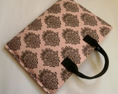 iPad Sleeve with handles. iPad Cover.  Pink.