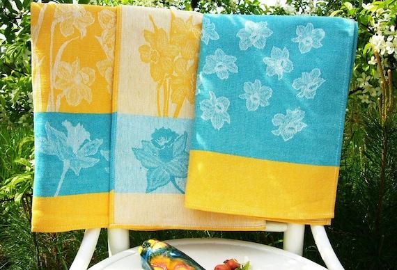 Damask Kitchen Towel set -Narcissus-