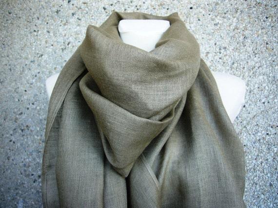 Linen shawl scarf - Dune -