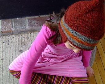 woolie earflap hat- big kid size