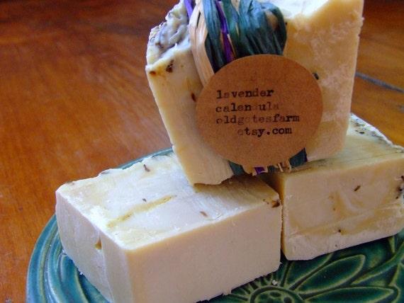 Farm Fresh Rustic Lavender Calendula Soap