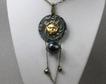 Moon Goddess Pendant and Chain