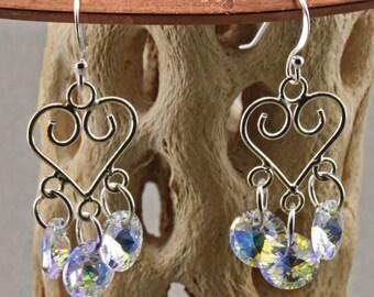 Sterling and Swarovski Crystal Earrings
