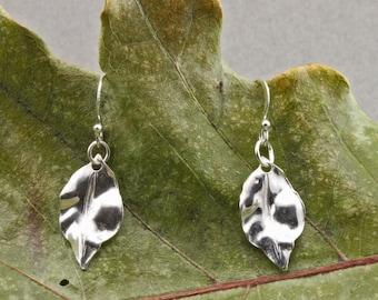Sterling Leaf  Earrings