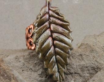 Hand Made Raku Leaf Ring