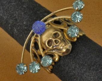 Handmade Day of the Dead Skull Ring