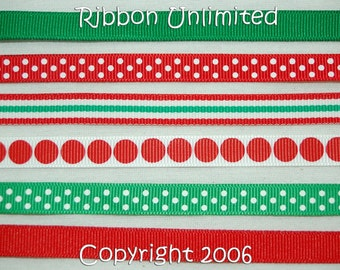 12 Yds WHOLESALE 3/8 Inch DIY CHRISTMAS Korkers grosgrain ribbon Low Shipping Cost