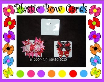 50 Plastic Hairbow DISPLAY CARDS for infant bows toddler bows and large bows