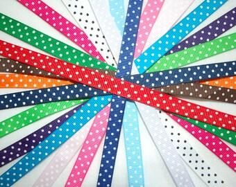 15 yard 3/8 Inch CLEARANCE SALE Swiss Dots BELOW wholesale grosgrain ribbon