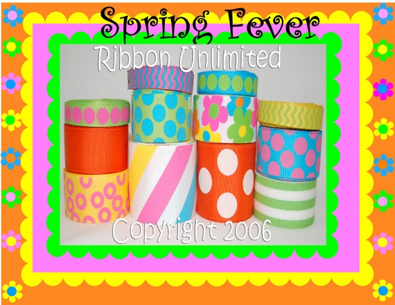 24 Yds SPRING FEVER  wholesale grosgrain ribbon collection   Low Shipping Cost