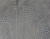 7 Plant Stakes - Great Gift Idea, Plant Sticks, Garden Decoration