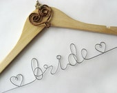 Personalized Rustic Bridal Hanger - Wedding Name Hanger, Custom Wedding Hanger, Wedding Name Hanger, Bridal Hanger, Wedding Dress Hanger