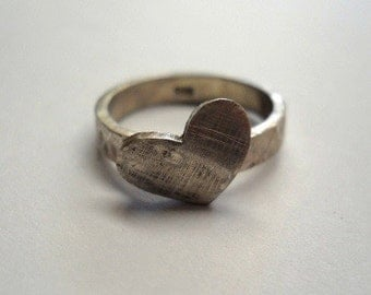Rustic heart ring
