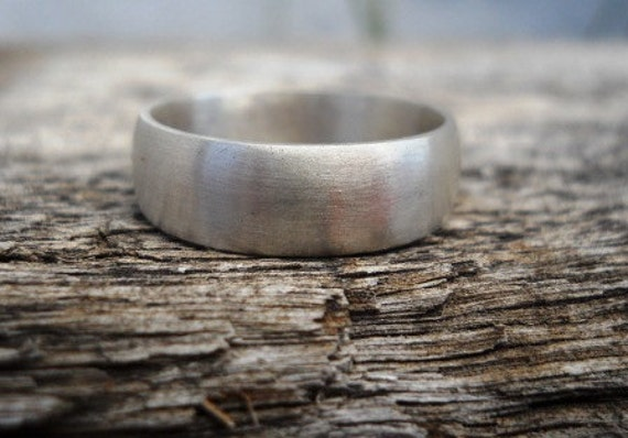 Mens band with engraving for Shannon