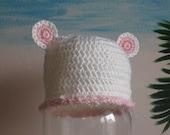 Baby Bear Hat SIZES Newborn or 3mo