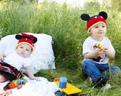 PDF Pattern for Minnie and Mickey Hats