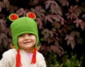Tree Froggy Hat SIZES 6mo, 1-3T or Youth
