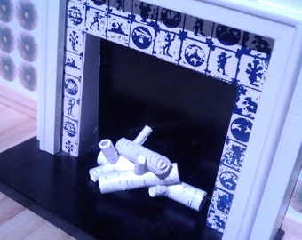 Birch Logs For Dollhouse Fireplaces