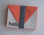 Helvetica Hello Pumpkin/Light Gray Note Cards