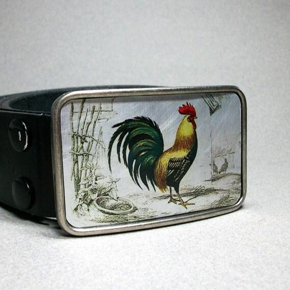 Belt Buckle Vintage Rooster