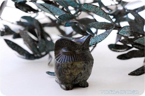 Miniature Owl in Solid Bronze