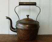 Small Antique 19th Century English Copper Kettle - MJH Jubilee