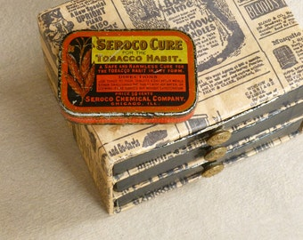 Antique Vintage Advertising - Seroco CURE for the Tobacco Habit Tin