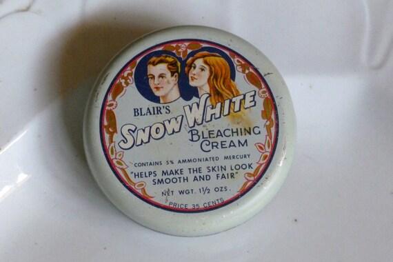 Vintage BLAIR'S Snow White Bleaching Cream Tin