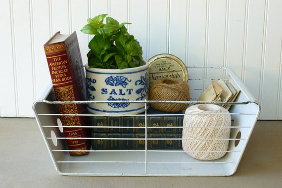 Vintage Industrial Metal Storage Bin