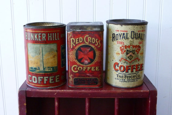 RESERVED KOHEI - Royal Quality and Bunker Hill Coffee Tins