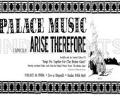 Palace Music Arise Therefore (Bonnie Prince Billy, Will Oldham) Poster