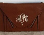 Brown Monogrammed Peyton Clutch Bag