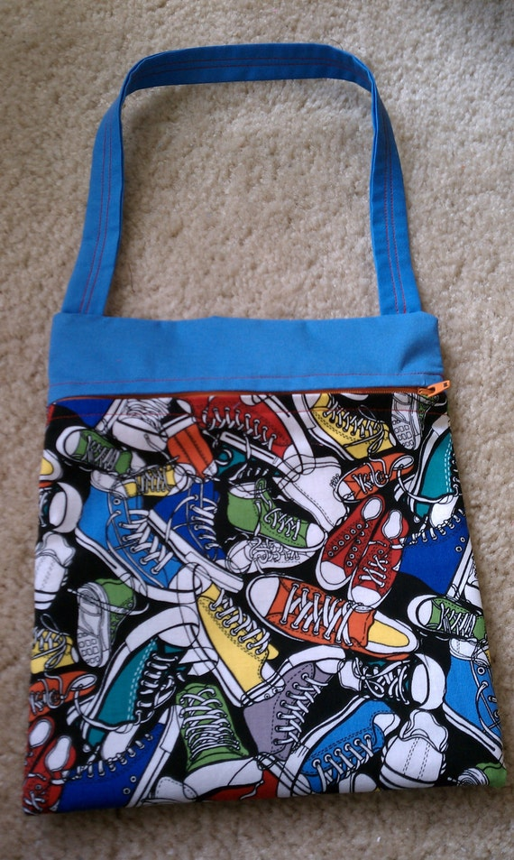 Colorful Sneaker Zippered Purse/Tote Bag