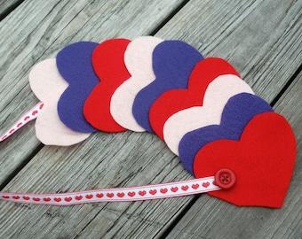 Hearts Preschool Button Snake