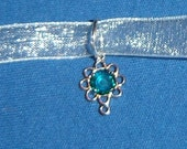 Blue or Green Yule Necklace