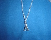 Amy Pond Dr. Who Necklace - Initial A Charm (silver or gold)