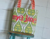 Kid Personalized Children Name Tote Bag Applique