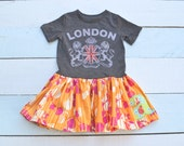 Personalized initial Tshirt dress for infant child girl