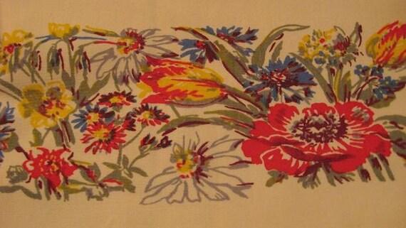 1940s Floral Print Table Cloth Summer FuN