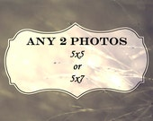 Custom any 2 photographs to be 5x5 or 5x7- have it your way- fine art photography collection