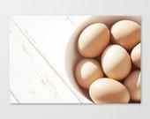 "rustic photography farmhouse buff whitewash fresh eggs  brown egg photo kitchen art chef foodie - 8x12 photograph home decor ""Brown Eggs"""