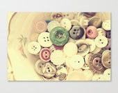 "quilter gift sewing room decor girlie pastel colors vintage button collection photograph quilt lover under ""Buttons"" 5x7 photography print"
