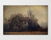"Rustic farm photography ""Hometown Appetite"" fine art photo unisex countryside farmhouse spooky eerie landscape photo"