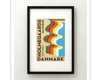 Holmegaard Glassworks - Denmark - Vases - Danish Modern Art Print