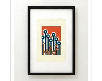 EVENTIDE - Giclee Print - Mid Century Modern Danish Modern Minimalist Cubist Modernist Eames Retro Abstract