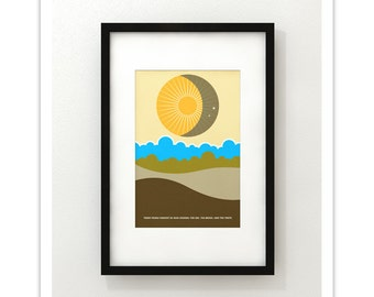 Three Things Cannot Be Long Hidden...  - Giclee Print - Modernist Minimalist Illustration