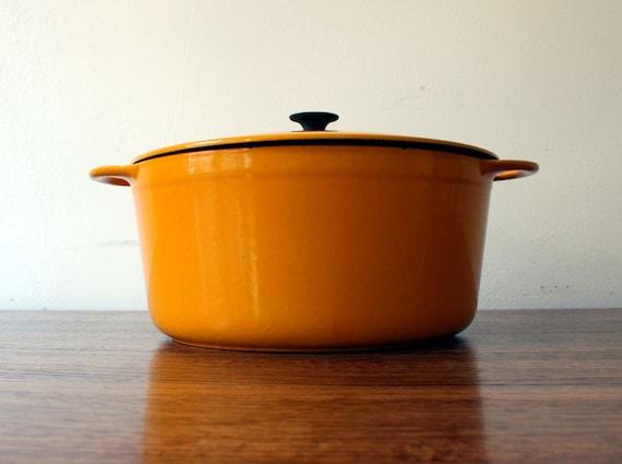Vintage Cousances Yellow Dutch Oven
