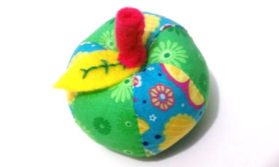 Whimsical Pin Cushion Apple